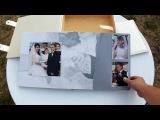 Свадебная фотокнига размер 30х30 (разворот 30х60) + короб для фотокниги и короб для 4ёх дисков.